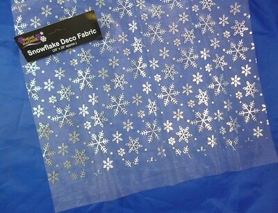 56'' X 16'' Silver Snowflake Tablecloth For Frozen Themed Parties (DP136) B