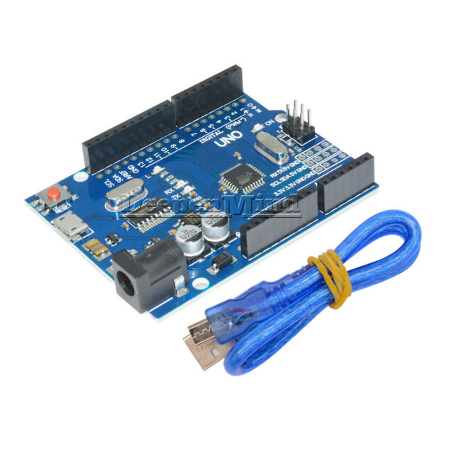UNO R3 ATMEGA328P-16AU CH340G Micro USB With Cable Board For Arduino