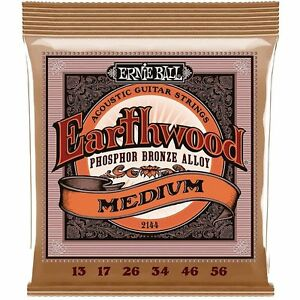 Ernie Ball 2144 Earthwood Phosphor Bronze Alloy Medium Acoustic Guitar Strings