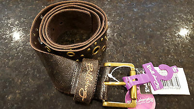 "RRP£35 Billabong Philippa Leather Womens Belt 1 Size 26/""-36/"" Brand New"