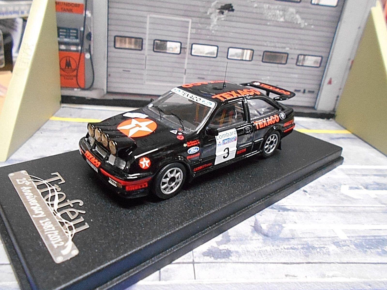 Ford Sierra Cosworth RS RALLYE RAC Go 1987  3 Vatanen Texaco nightv Trofeu 1 43