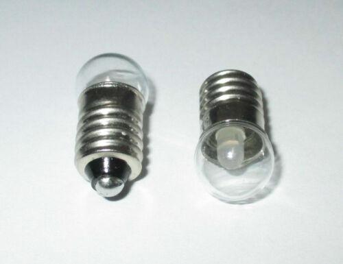 LED e10 3,5-4,5 voltios para guarderías- casa de muñecas lámparas 2 unidades-nuevo