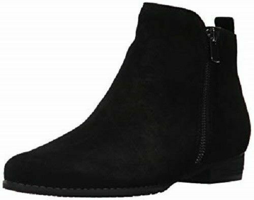 NEW Womens Blondo Lynne Black Suede Waterproof Ankle Boots Booties B5888-015