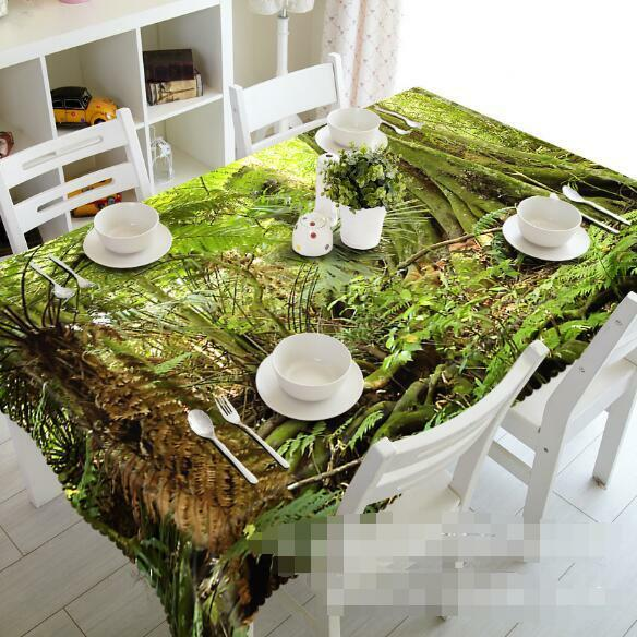 3D Forest Weeds 5 Tablecloth Table Cover Cloth Birthday Party Event AJ WALLPAPER