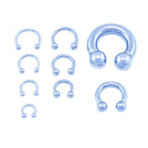 Horseshoe-Bar-Circular-Barbell-Lip-Nose-Septum-Ear-Ring-Various-Sizes-available
