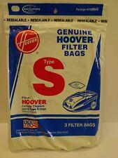 Spectrum /& Power Max Vacuum Bag Type S  #4010064S   3pk Genuine HOOVER Futura