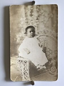 Americana-African-American-Baby-Christening-Gown-Photo-Black-White-1916-WW1-W18