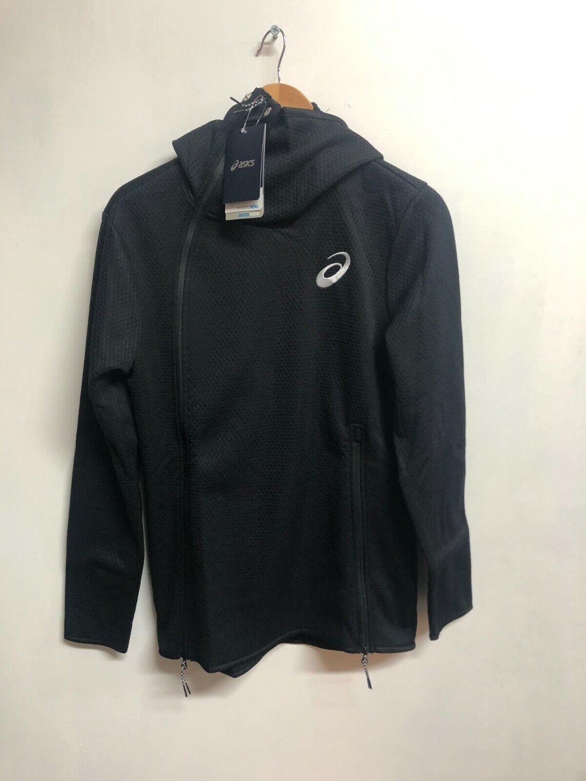 Asics Men's Tech Jacket Motion Therm Full Zip Jacket - Black - New
