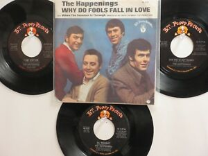 LOT OF 4 ' THE HAPPENINGS ' HIT 45's+1PS[Why Do Fools Fall In Love]* THE 60's!