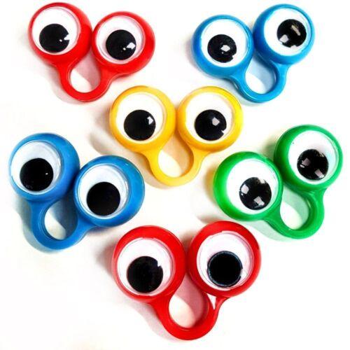 FINGER SPIES Kids Googly Eyes Hand Puppets Toy Party Bag Filler Game 5cm UK