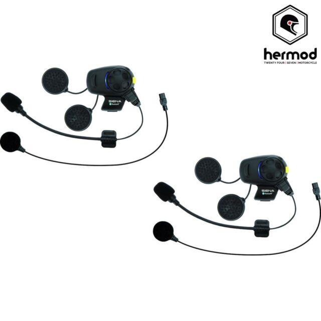 Sena SMH5 FM Dual Bluetooth Intercom Motorcycle Helmet Kit - Universal - X2