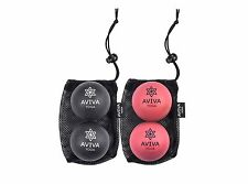 Trigger Point Release with AVIVA YOGA's Set of 4 Natural Rubber Massage Balls