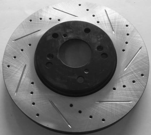 Acura TL 3.2 99-08 Cross Drilled Slotted Brake Rotors F