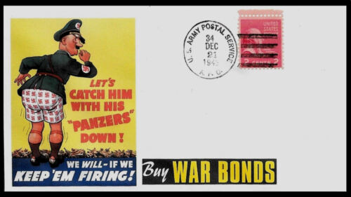 Anti-Hitler Nazi Featured on Collector Envelope Original Period WWII Stamp *A934