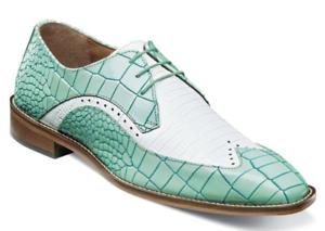 Stacy Adams Trazino Para hombres Zapatos Oxford Aqua blancoo 25271-454