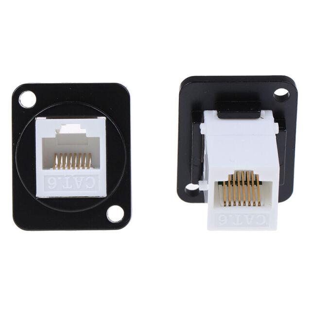 RJ45 D-type module socket female signal connector cat6 panel mount network R  T