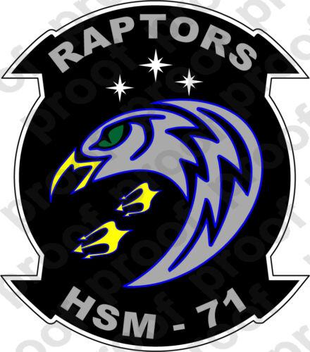 STICKER USN HSM 71 RAPTORS