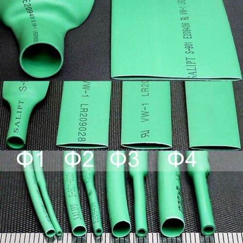 Green Φ0.6mm 80mm Heat Shrink Tube 2:1 Cable Wire Tubing Electrical Sleeving