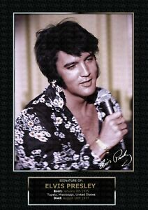 """ELVIS PRESLEY - """"That's The Way It Is"""" - SIGNED A4 PHOTO PRINT MEMORABILIA"""