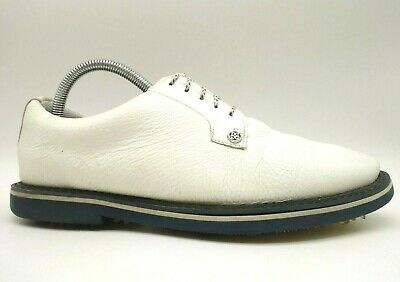 g fore white leather casual lace up spikeless golf oxfords