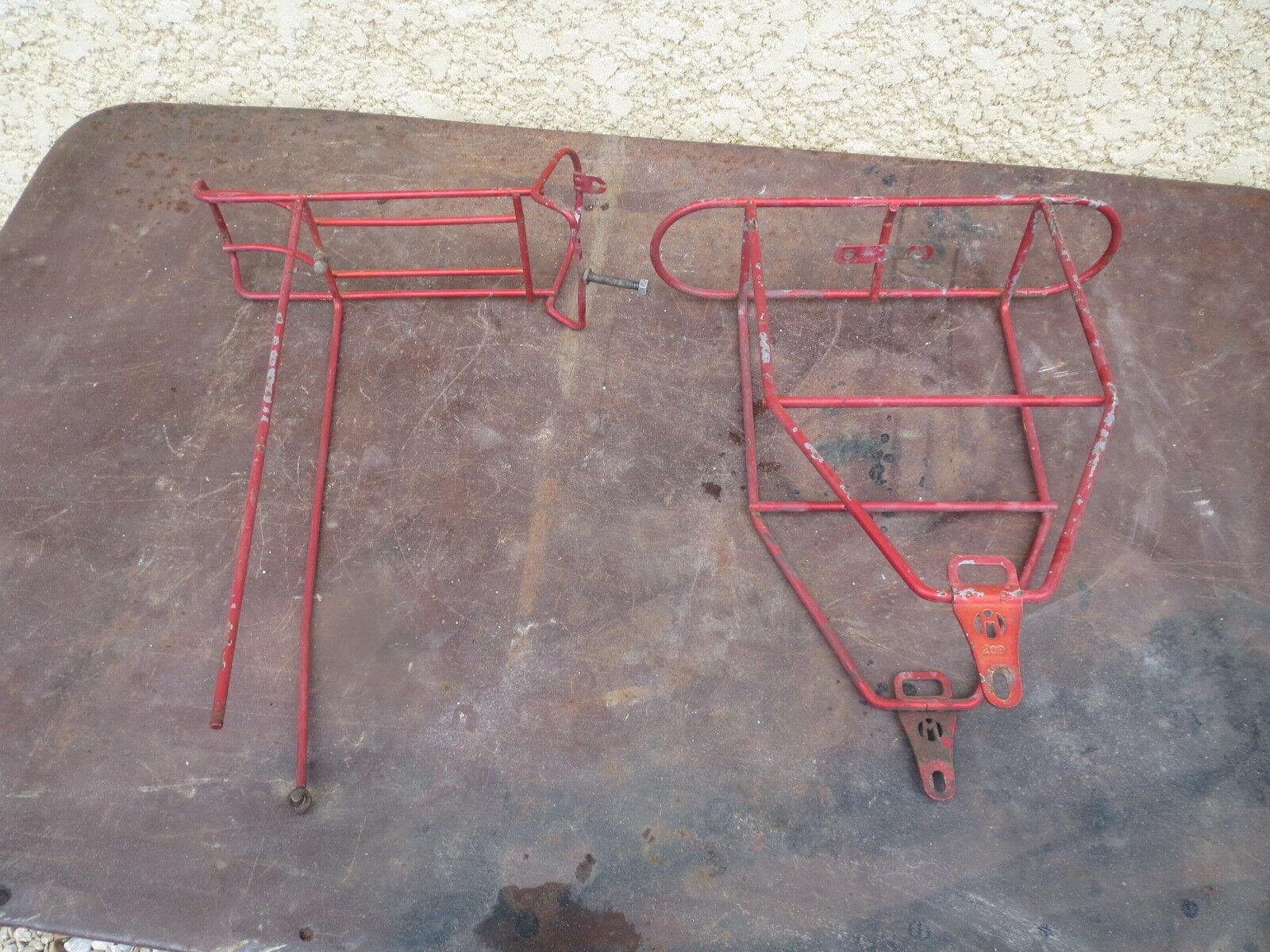 Randonneuse Set porte bagages AV et Ar velo Ancien 1950 vieux cycle