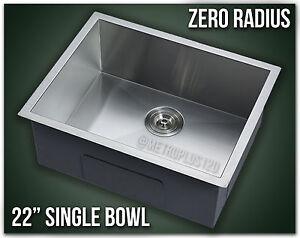 Image Is Loading 22 034 Single Bowl Undermount 16 Gauge 304