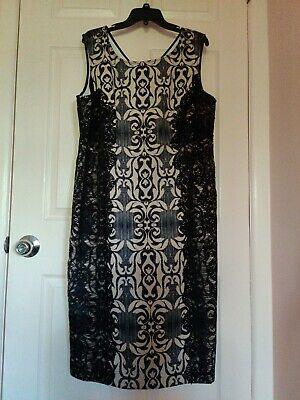 SLNY Fashions Women/'s Plus Size Embellished Sheath Black Dress Size 18W