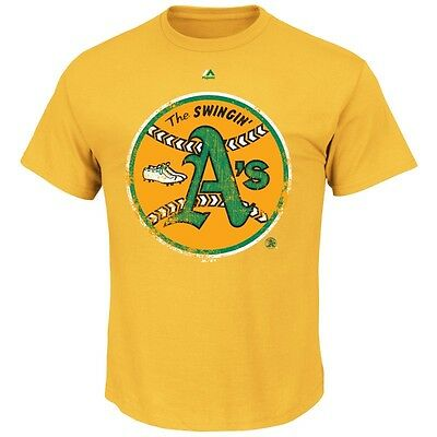Fanartikel Sport Effizient Mlb Baseball Oakland Athletics A's League Supreme Cooperstown T-shirt Majestic
