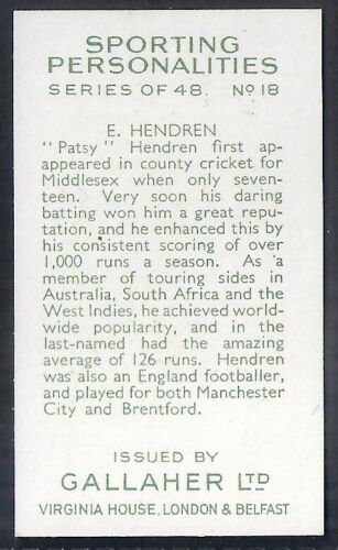 CRICKET HENDREN GALLAHER-SPORTING PERSONALITIES-#18