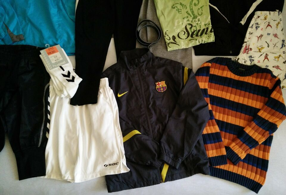 Blandet tøj, Tøjpakke str. 140-152, nyt og brugt