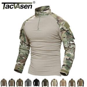 TACVASEN-Men-Tactical-Military-Combat-Shirt-Pockets-Camouflage-Breathable-Shirts