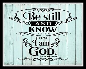 Be Still and Know Metal PlaqueSign