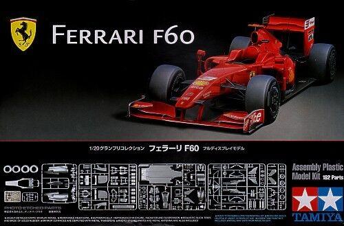 Tamiya 20059 1 20 Model Kit Ferrari F60 Formula One Massa Raikkonen w PE Parts