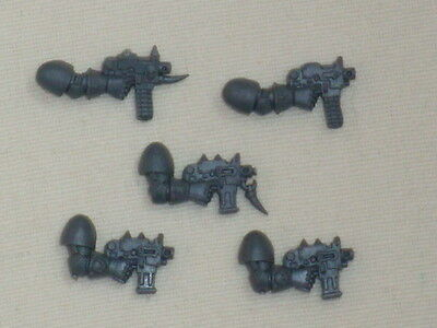 5 Chaos Space Marine Boltpistols * Warhammer 40.000 * Games Workshop-mostra Il Titolo Originale
