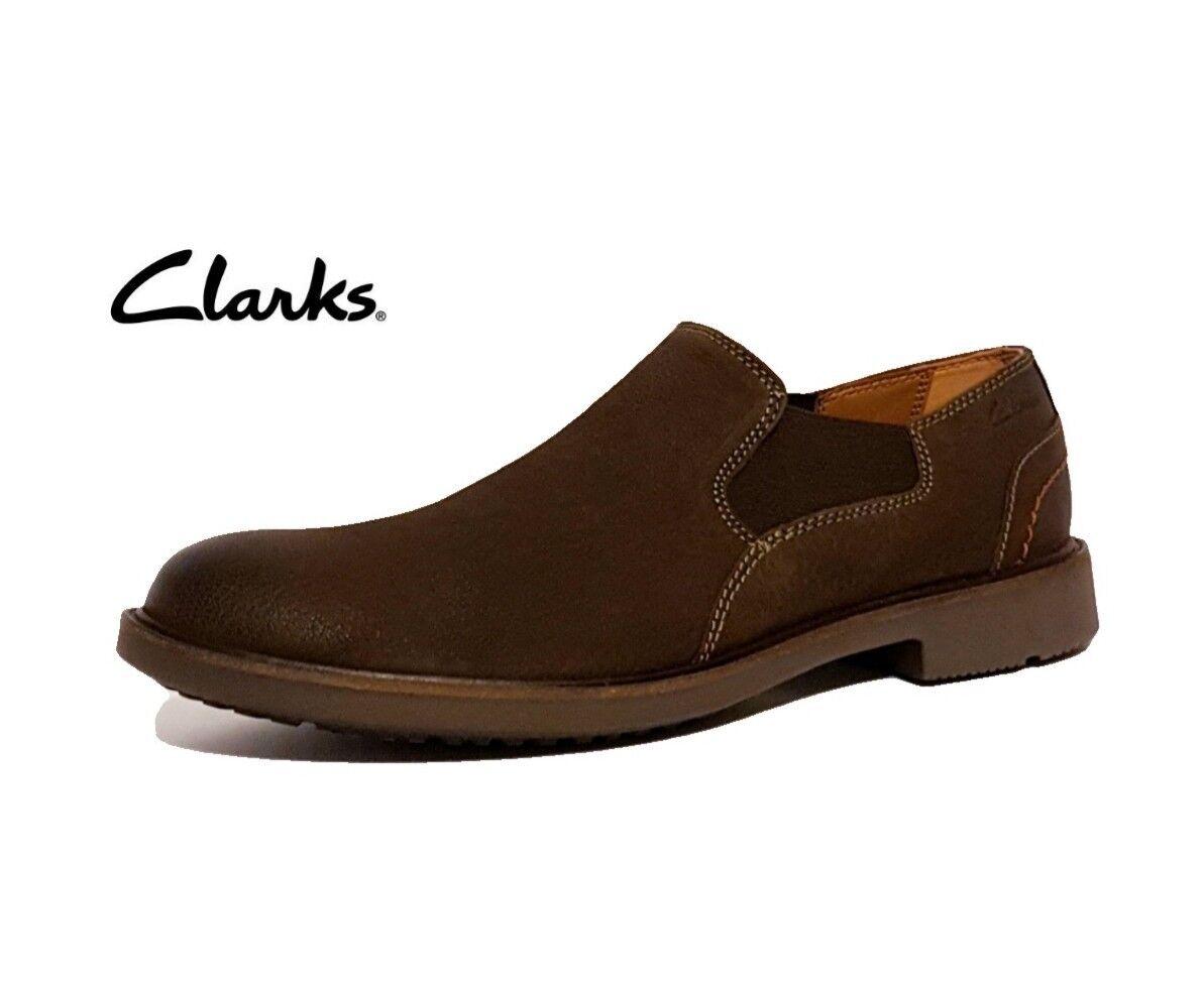 Clarks wahlton pelle gratuito BROWN in vera pelle wahlton Mocassini Da Uomo Scarpe Casual 4daeb3