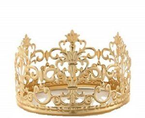 4 wide gold royal crown cake topper birthday party centerpiece