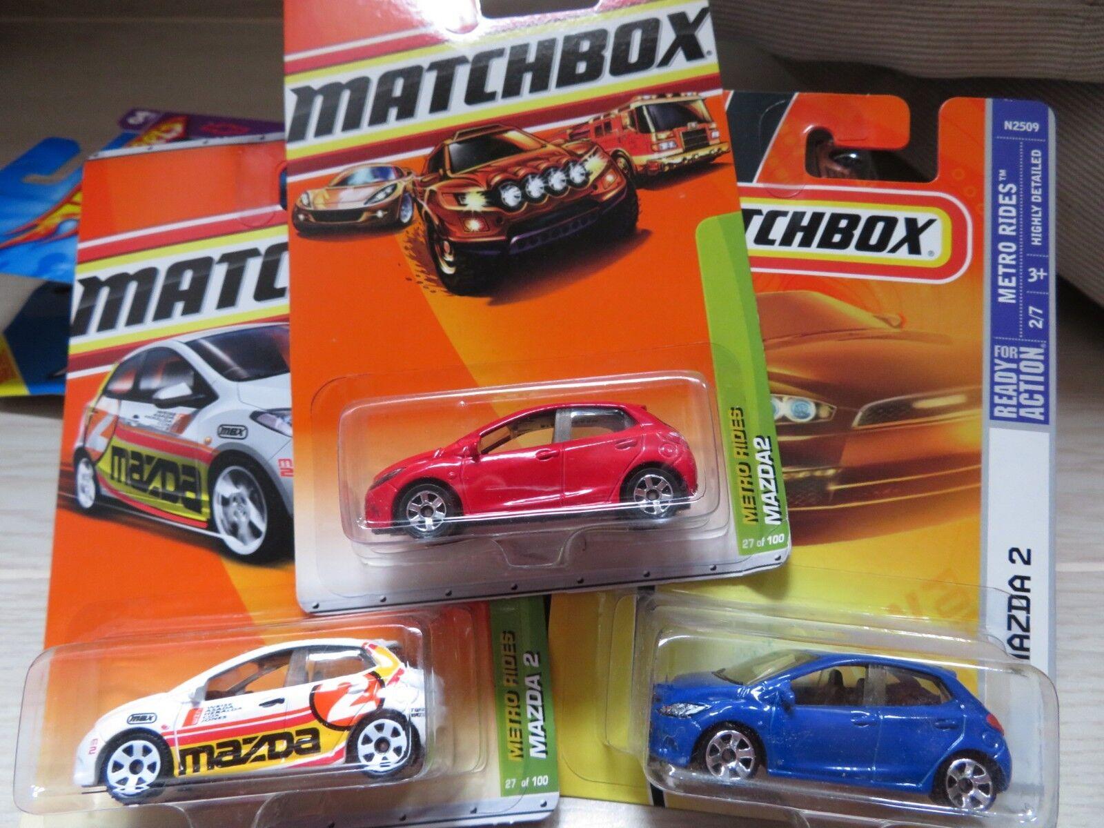 1 64 matchbox MAZDA 2 (3pcs) diecast