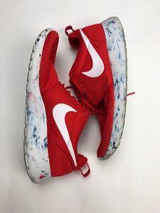 9627910908f3 Men s Nike Roshe Run Marble Challenge Red Running Shoes 669985-600 ...
