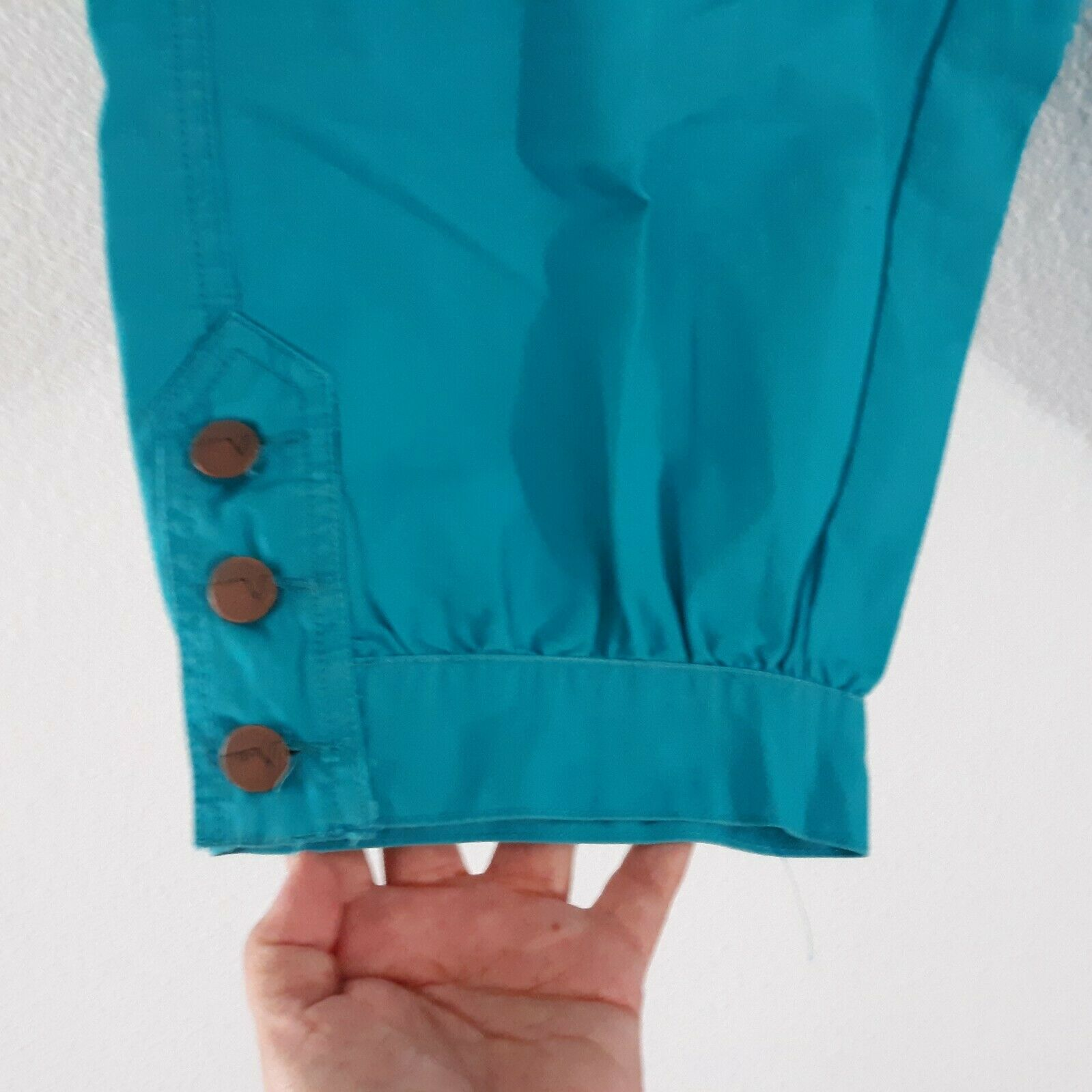 Venezia Turquoise Blue Cargo Capri Pants Women's … - image 3
