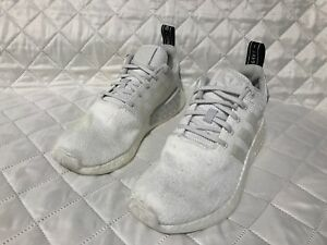 best sneakers 3f9ff 6998b Image is loading Adidas-Originals-NMD-R2-White-Sneaker-BY9914-Sz-