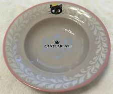 Sanrio Chococat Ceramic Soup Bowl Or Salad Plate in Crown Pattern NEW