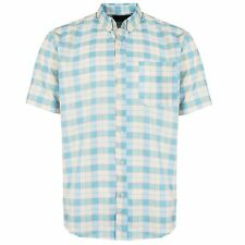 NEW MENS SHORT SLEEVE SHIRTS  BUSSINESS WORK CASUAL FORMAL SMART DRESS CHECK TOP