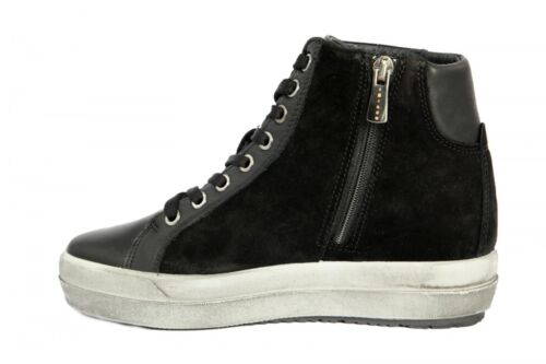 ... Igi co Scarpe Donna Sneakers Alta Pelle Nero Lacci + Zip Laterale -  2155700 f7d2227b715