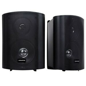 Indoor-Outdoor-Speaker-150W-2-Way-Waterproof-Sound-Marine-Garden-Home-Black-AU