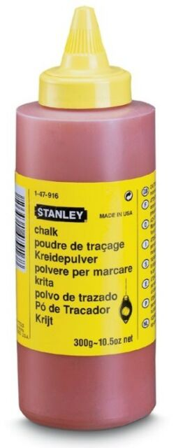 Schlagschnur-Kreide 225 gr rot wasserfest und schwer löslich Stanley