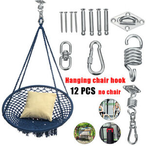 12pcs 500lb Hammock Chair Hanging Hooks Kit Swivel Ceiling Hooks Mount Tools Set Ebay