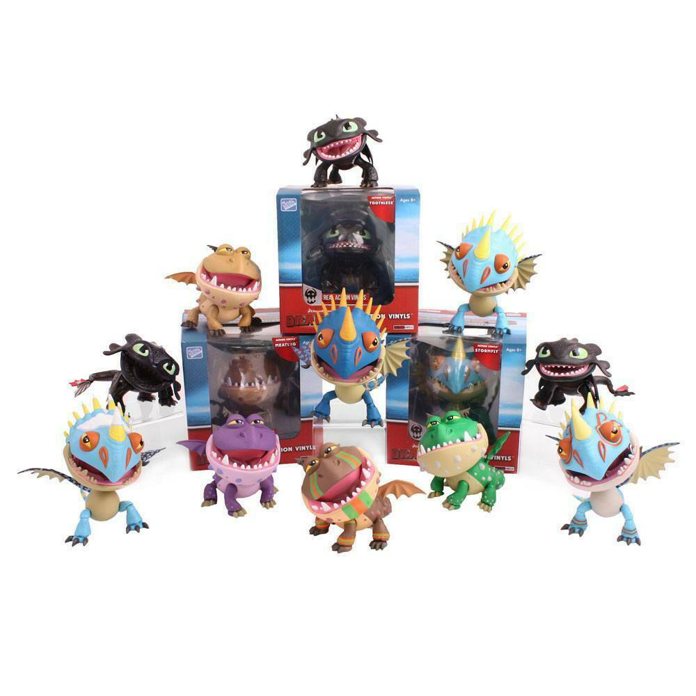 How to Train Your Dragon Action Vinyl Mini Figures 8 cm Dragons Display (12) The