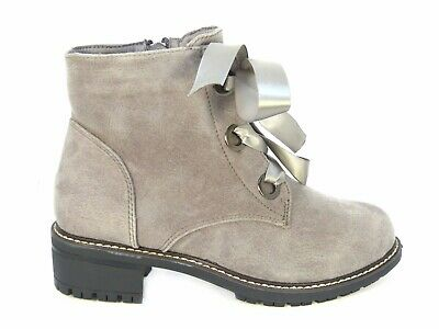 Ladies Women/'s Military Boots Army Combat Ankle Lace Up Flat Biker Zip Size 3-8