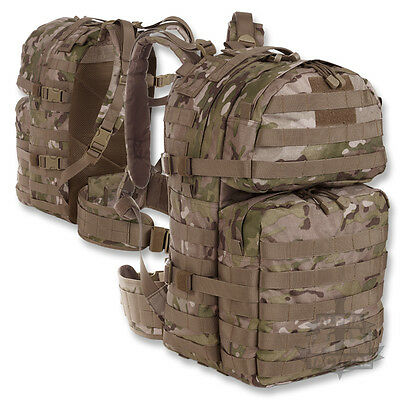 BRITISH MOLLE 40 LITRE DAY PACK / SACK ARMY RUCKSACK BACKPACK MTP MULTICAM