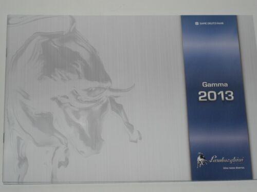 slh 1 Lamborghini gamma 2013 producto programa folleto de 10//2012 italiano